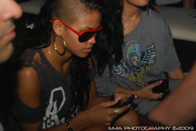Cassie on her cell phone